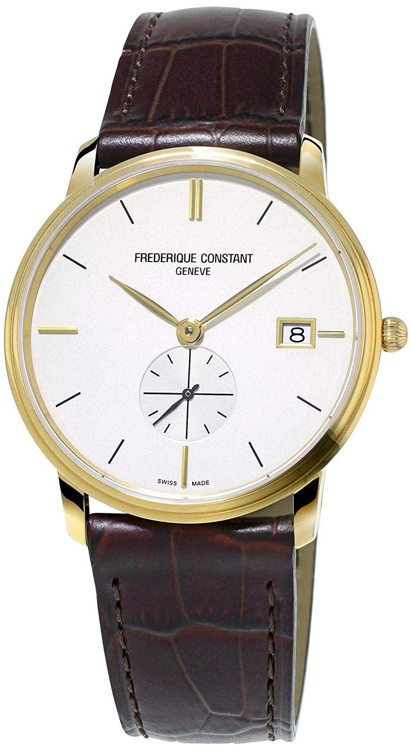 Frederique Constant Slimline Leather Mens Watch FC-245V4S5